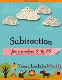 Singapore Mastery Method 1st Grade Subtraction Common Core