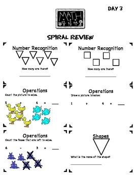 Math Common Core Spiral Review: 1st Grade-Full Year Bundle
