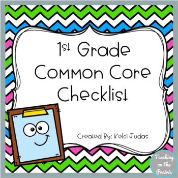 1st Grade Common Core Standard Checklist