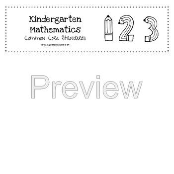 First Grade Math Common Core Standards Checklist Flip Book