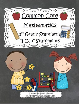 """1st Grade Common Core Standards """"I Can"""" Statements Bundle!"""