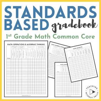 |1st Grade Math| Common Core Standards-Based Checklists or Gradebook