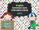 1st Grade Common Core Standards - Math - English