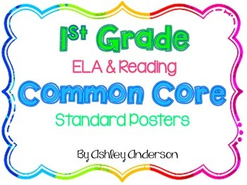 1st Grade Common Core Standards Posters- ELA & Reading