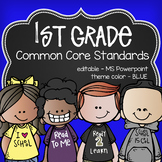 1st gr Common Core posters - EDITABLE - PowerPoint, ELA, Math, Science, Social