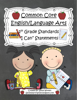 1st Grade Common Core Standards for English/Language Arts