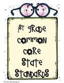 1st Grade Common Core Standards with Explanations