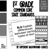 1st Grade Common Core State Standards (CCSS) Display Black
