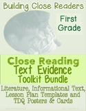 1st Grade Google Slides™ Type-able: Tools for Close Reading Interactive Notebook