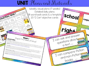 Back To School Classroom Community Integrated Unit