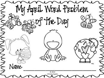Word Problems 1st Grade, April
