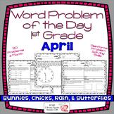 Word Problems 1st Grade, April