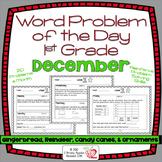 Word Problems Day 1st Grade, December, Spiral Review, Dist