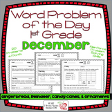 Word Problems Day 1st Grade, December