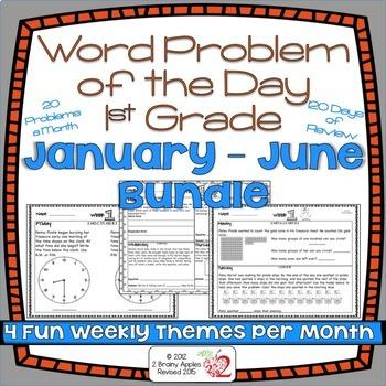 Word Problems 1st Grade Bundle