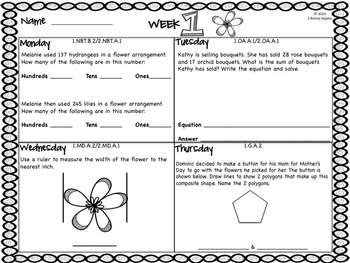 Word Problems 1st Grade, May