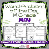 Word Problems 1st Grade, May, Spiral Review, Distance Learning