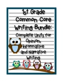 1st Grade Common Core Writing Bundle: Opinion, Informative