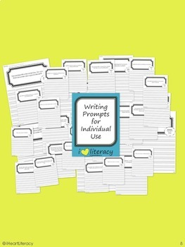Writing Prompts 1st Grade Common Core Bundle December, January, and February