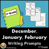 Writing Prompts 1st Grade Common Core Bundle December, Jan