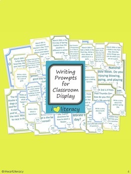 Writing Prompts 1st Grade Common Core Bundle – March, April, May