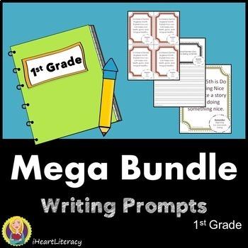 Writing Prompts 1st Grade Common Core Year-Long Mega Bundle