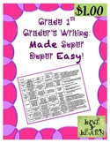 Writing Rubric for 1st Grade Common Core