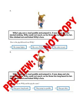 1st Grade Compare & Contrast Assessment/Activity
