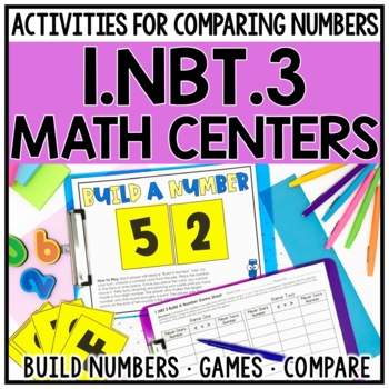 1st Grade Comparing 2-Digit Numbers Centers for 1.NBT.3