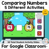1st Grade Comparing Numbers - Greater/Less Than Digital Sl