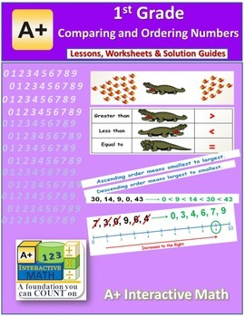 1st Grade Comparing and Ordering Numbers Lessons, Worksheets, Solution Manuals