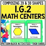 1st Grade Composite Shapes Math Centers for 1.G.2