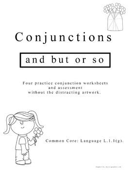 1st Grade Conjunctions - Common Core L.1.1