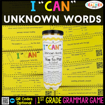 1st Grade Grammar Game | Context Clues | Unknown Words