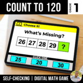 1st Grade Count to 120 Digital Math Games | Distance Learning
