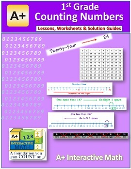 1st Grade Math Counting Numbers Lessons, Worksheets, Solution Manuals