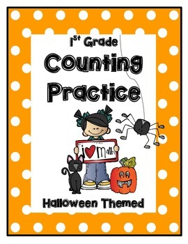 CGI Math: Counting Warm-ups & Practice Sheets for 1st Grade-- Halloween Themed