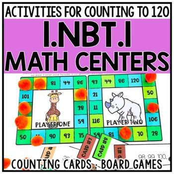 1st Grade Counting to 120 Centers for 1.NBT.1