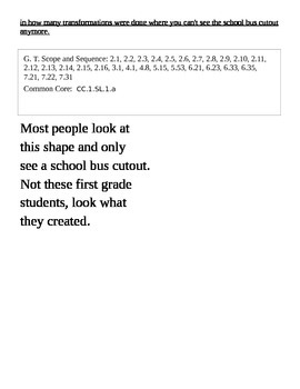1st Grade Creative Transformations Common Core Linked