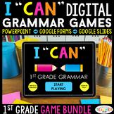 1st Grade Grammar Games DIGITAL   Literacy Centers   Distance Learning