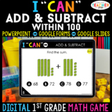 1st Grade DIGITAL Math Game | Addition & Subtraction within 100