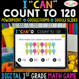 1st Grade DIGITAL Math Game | Counting to 120 | Distance Learning