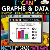1st Grade DIGITAL Math Game | Graphs & Data | Distance Learning
