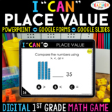 1st Grade DIGITAL Math Game | Place Value | Distance Learning