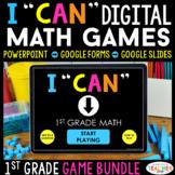 1st Grade Math Games DIGITAL |  Math Centers | Distance Learning