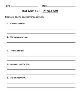 1st Grade DOL Quizzes ...  Use With or Without Trophies (Every Story Included!)