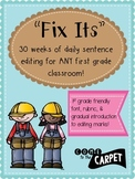 1st Grade Daily Sentence Editing for 30 Weeks
