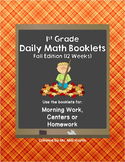 1st Grade Daily Math-Fall Edition