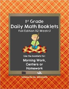 1st Grade Daily Math-Fall Edition