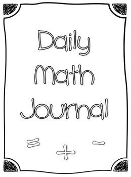 1st Grade Daily Math Journal